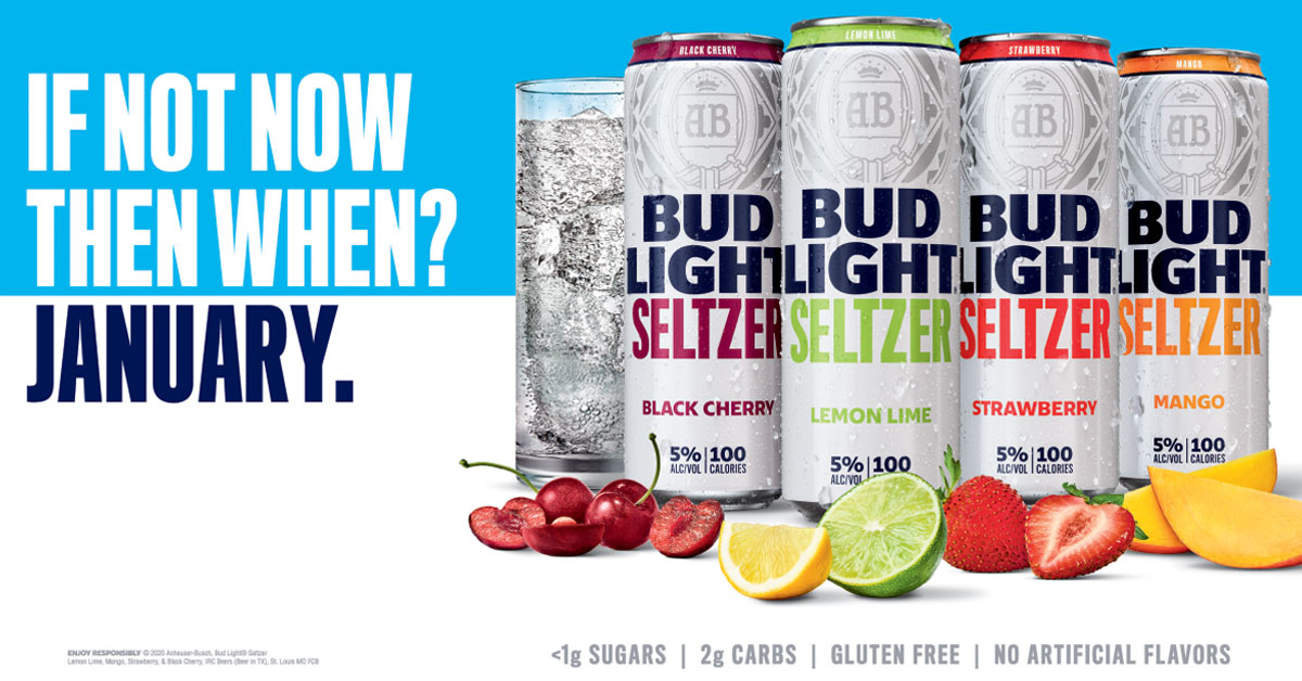 Bud Light Seltzer Coming January 2020 Coastal Beverage Ltd